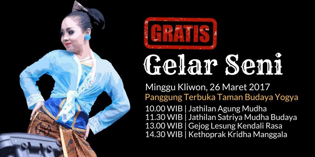 Gelar Seni Di Panggung Terbuka Taman Budaya Yogyakarta Yogya | GudegNet