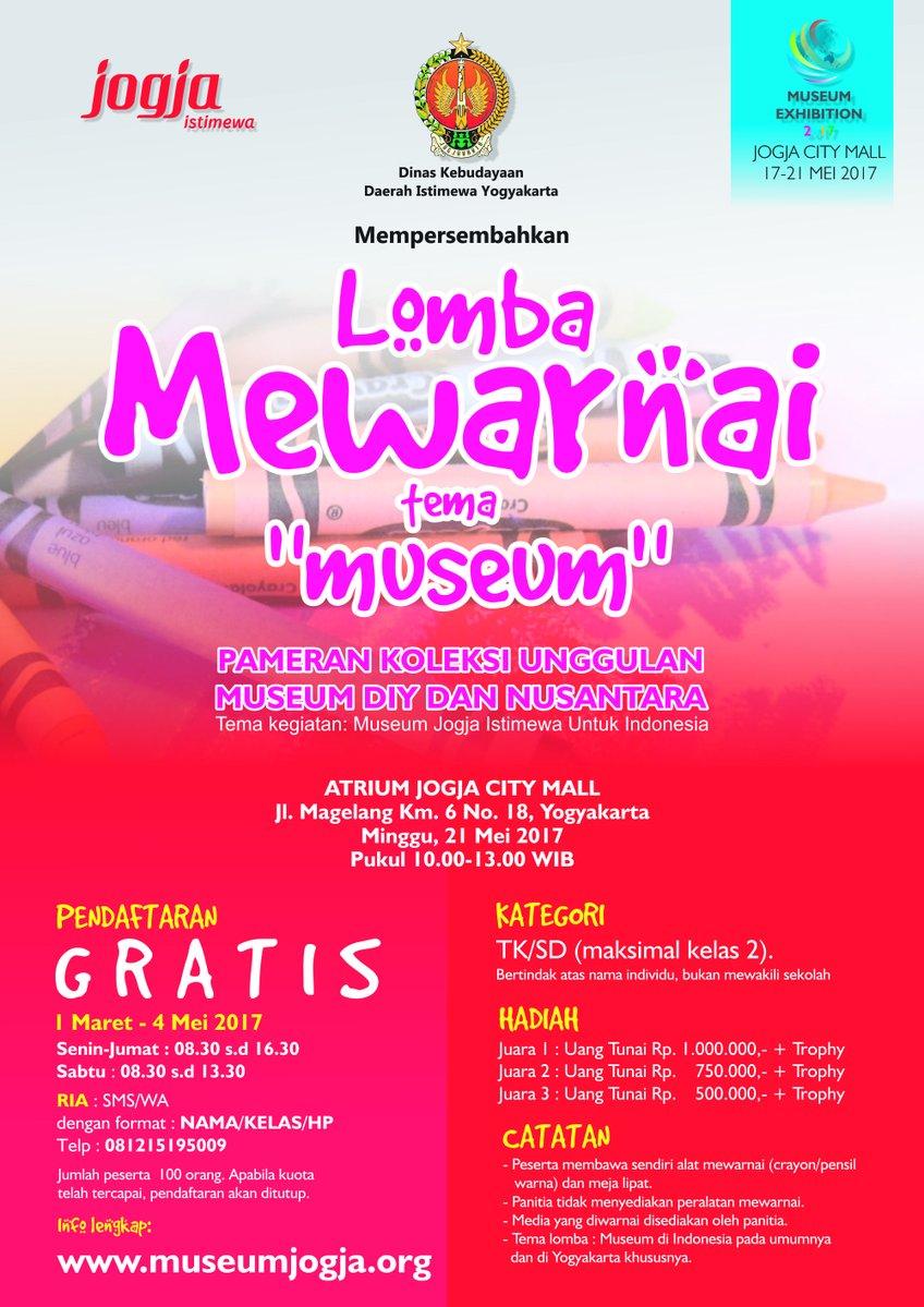 Lomba Mewarnai Tema Museum Minggu 21 Mei 2017 Pukul 10 00 13 00 WIB
