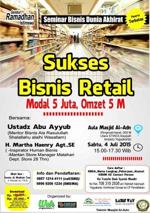 Seminar Bisnis Dunia Akhirat | Sukses Bisnis Retail