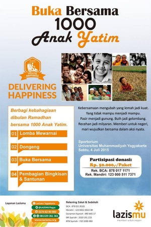 Buka Bersama 1000 Anak Yatim bersama Lazismu di Yogyakarta