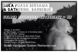 Buka Bersama & Gathering Penggemar Golden Retriever Area Jogja