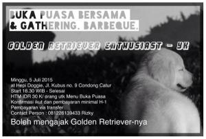 Buka Bersama & Gathering Penggemar Golden Retriever Area Jogja