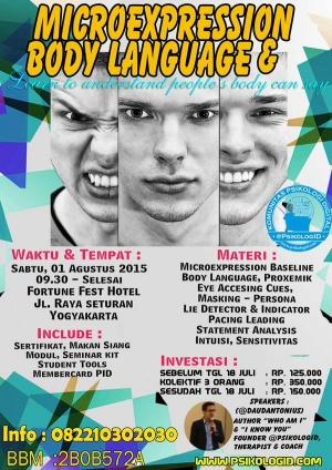 Seminar Psikologi: Microexpression & Body Language