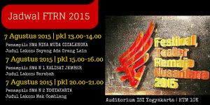 Jadwal Festival Teater Remaja di ISI Yogyakarta 7 Agustus 2015