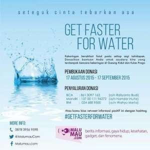 Donasi Air untuk Gunung Kidul dan Kulon Progo