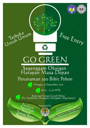 Go Green 'Segenggam Oksigen Harapan Masa Depan' | 25 September 2016 | 08.00 - 12.00 WIB