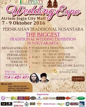 "Wedding Expo ""Pernikahan Tradisional Nusantara"" | 7 - 9 Oktober 2016 | Atrium Jogja City Mall"