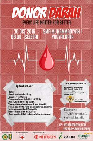 Donor Darah di SMA Muhammadiyah I Yogyakarta