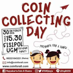 Coin Collecting Day | 30 Oktober 2016 | 15.30 WIB | Fisipol UGM
