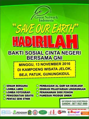 Save Our Earth | Bakti Sosial Cinta Negeri