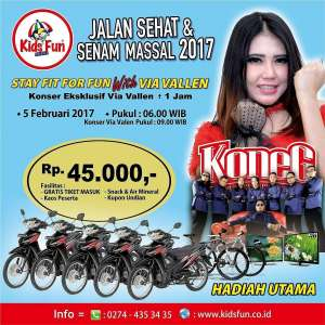 "Jalan Sehat & Senam Massal 2017 ""Stay Fit For Fun with Via Vallen"""