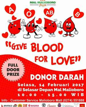"Donor Darah ""Give Blood For Love """