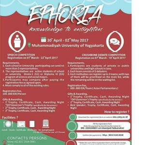 "EPHORIA 2017 ""Knowledge to Enlighten"""