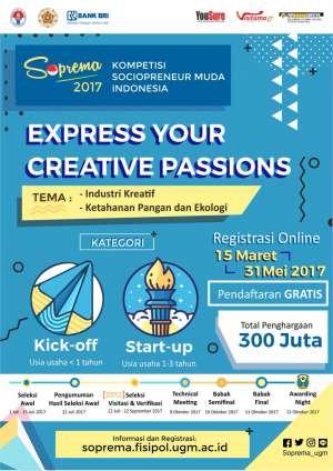 "Soprema ""Kompetisi Sociopreneur Muda Indonesia"""