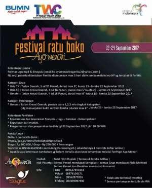 Lomba Menari di Festival Ratu Boko 2017