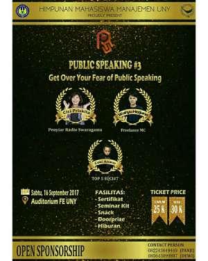 Seminar Public Speaking#3 HIMA UNY