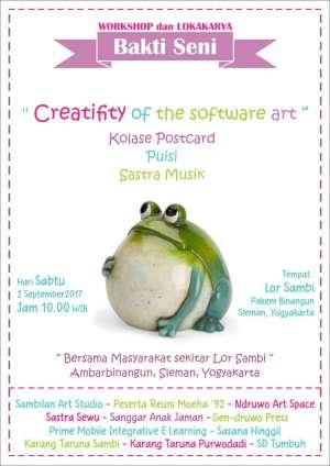 """Workshop Lokakarya Bakti Seni """"Creativity Of The Software Art"""""""