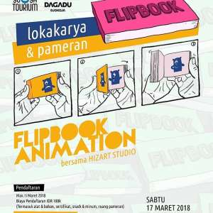 Pameran dan Lokakarya Flipbook Animation
