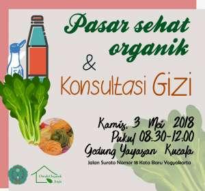 Pasar Sehat Organik dan Konsultasi Gizi