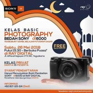 Kelas Basic Photography : Bedah Sony