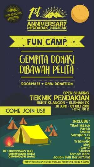 Fun Camp : Gempita Donasi di Bawah Pelita