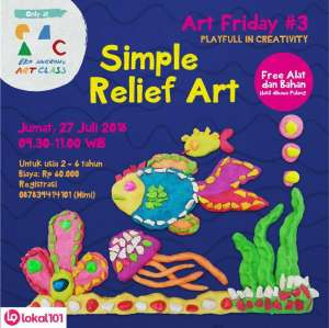 "Art Friday "" Simple Relief Art"""