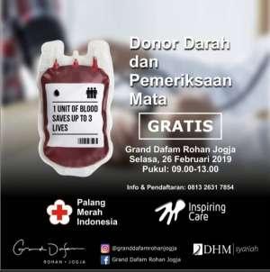 Donor Darah dan Pemeriksaan Mata Gratis