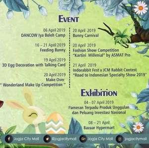 Agenda Jogja City Mall April 2019
