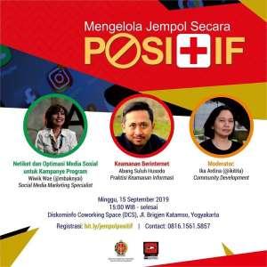 Diskusi 'Mengelola Jempol Secara Positif'
