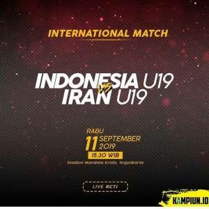 International Friendly Match: INDONESIA U-19 vs IRAN U-19.