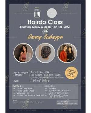 Hairdo Class with Jenny Subagyo