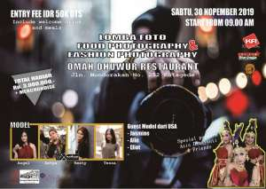 Lomba Foto: Food Photography dan Fashion Photography Omah Dhuwur