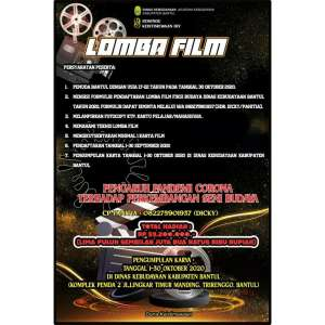 Lomba Film Dinas Kebudayaan (Kundha Kabudayan) Kabupaten Bantul