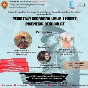 "Webinar ""Peristiwa Serangan Umum 1 Maret, Indonesia Berdaulat"