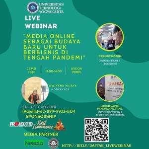 """Webinar """"Media Online sebagai Budaya Baru untuk Berbisnis di Tengah Pandemi"""""""