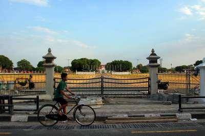 Pembangunan Pagar Alun-alun Utara Keraton Yogyakarta