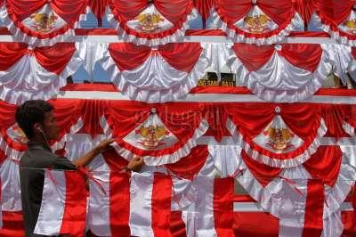 Penjual Bendera Merah Putih