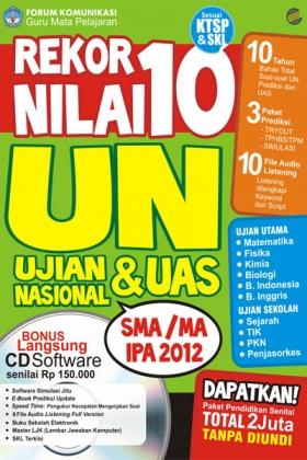 Rekor Nilai 10 UN SMA/MA IPA