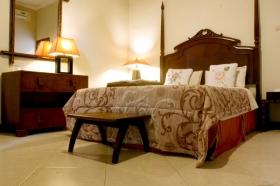 Kamar tidur di Villa Pakem