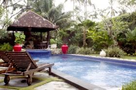 Kolam renang di Villa Pakem