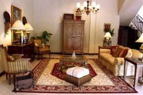Ruang keluarga di Villa Pakem
