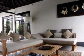 Ruang Keluarga di Villa Padi