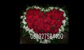 Contoh karangan bunga mawar