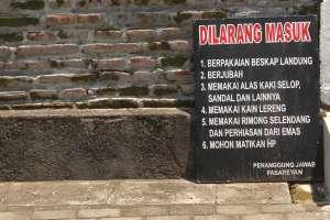Beberapa aturan yang harus ditaati pengunjung