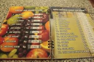 Daftar menu
