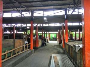 Salah satu lorong masuk di Pasar Terban