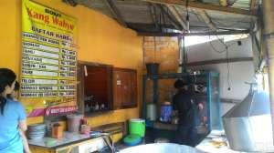 Daftar menu di Siomay Kang Wahyu