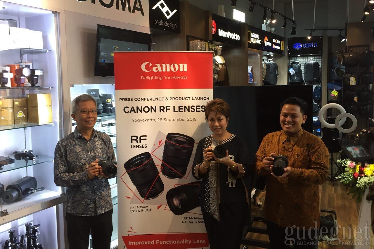 Canon Kenalkan 3 Lensa RF Terbaru untuk Mirrorles EOS R