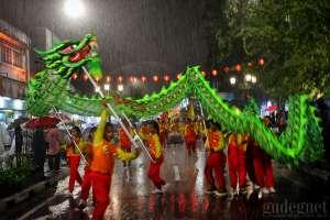 Malioboro Imlek Carnival 2019 Berlangsung di Tengah Guyuran Hujan Deras
