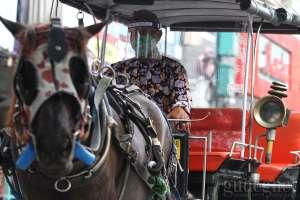 Siap New Normal, Kusir Andong Wisata Malioboro Pakai Face Shield